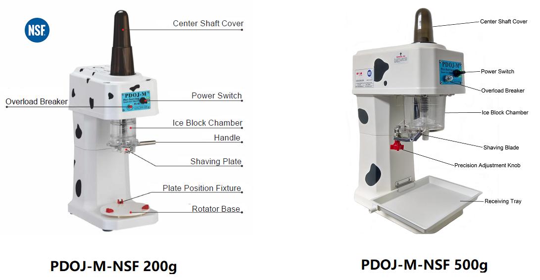 PDOJ-M-NSF Sizes